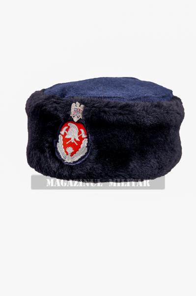 Caciula din blana naturala, ofiteri (altii decat colonel), maistri militari si subofiteri (F) 0