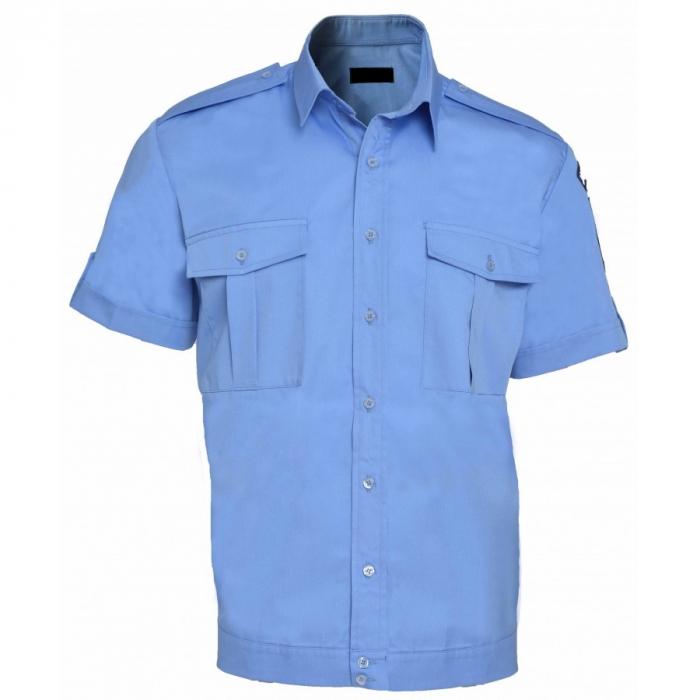 Camasa-bluza, maneca scurta, cu banda in terminatie, barbati [0]