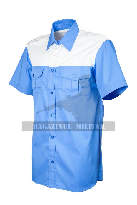 Camasa-bluza politia rutiera, maneca scurta, fara banda la terminatie (F) 1