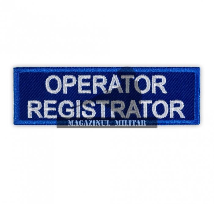 Ecuson OPERATOR REGISTRATOR 0