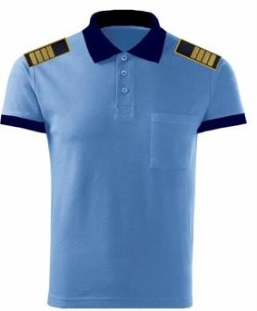 Tricou polo bleu (bicolor), maneca scurta [0]