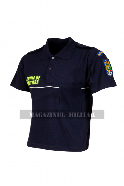 Tricou polo inscriptionat, cu emblema (F) 1