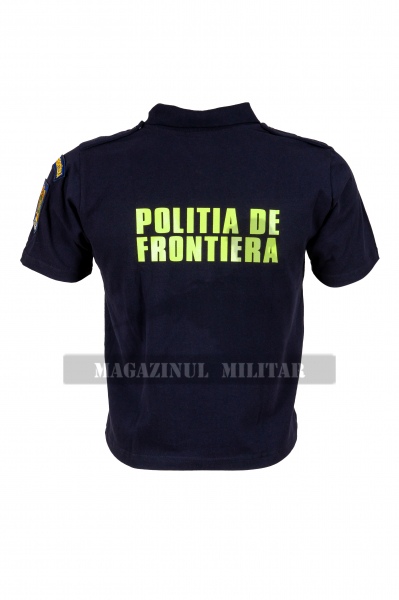 Tricou polo inscriptionat, cu emblema (F) 2