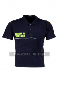 Tricou polo inscriptionat, cu emblema (F)0