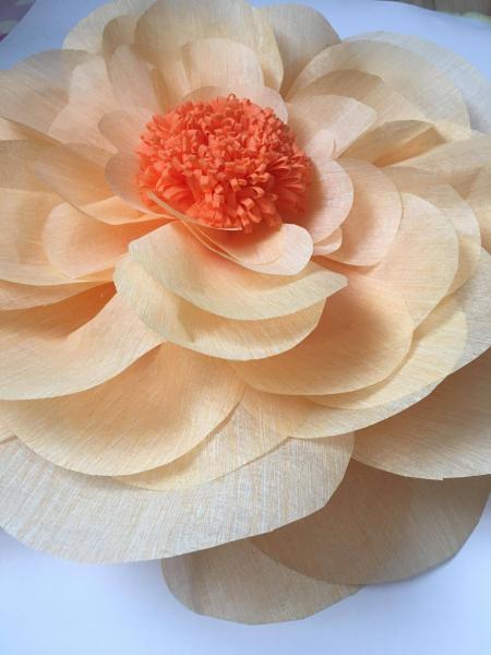 Floare supradimensionata, 60 cm diametru, portocaliu deschis