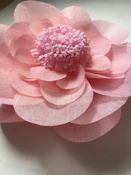 Floare uriasa, 60 cm roz baby, material textil 1