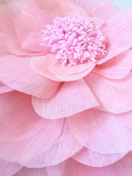 Floare uriasa, 60 cm roz baby, material textil 2
