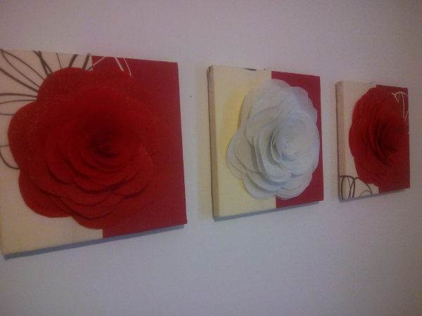 Set tablouri 3D - Trandafiri