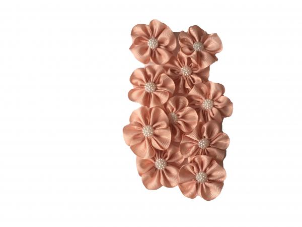 Floare mica saten mat, raiat - 4m cm (roz prafuit) 1