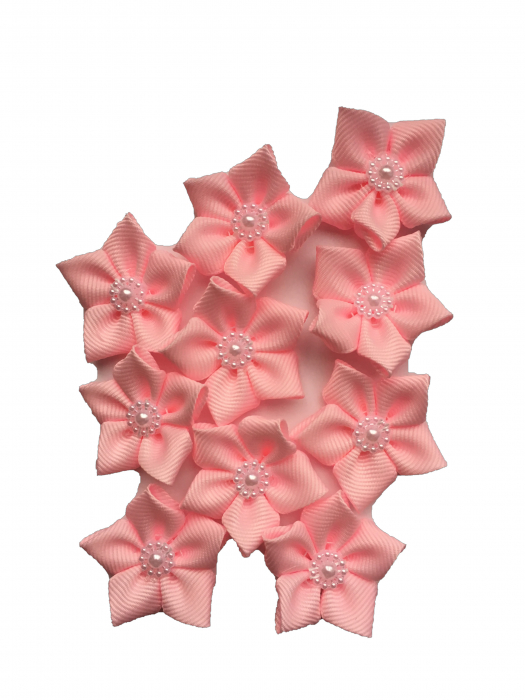 Floare mica saten mat, raiat - 4m cm (roz baby)