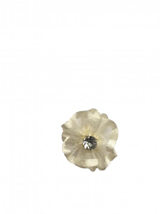Floare organza 2 cm ivory 0