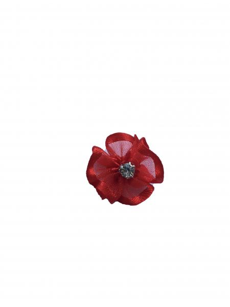 Floare organza 2 cm - rosu 0