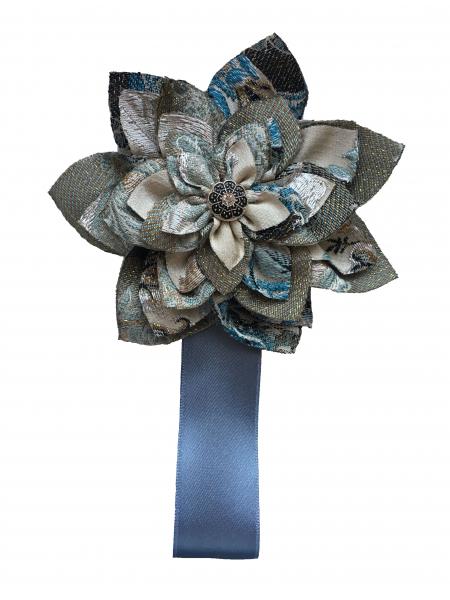 Magnet pentru draperie , culoare gri-albastru vintage 0