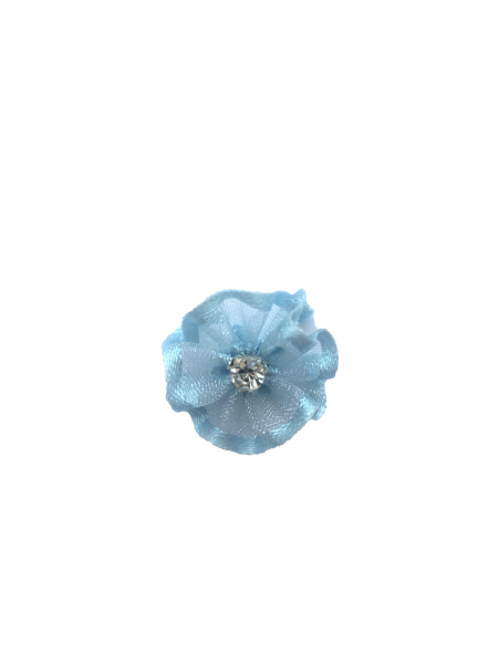 Flare organza albastru deschis (2cm) 0