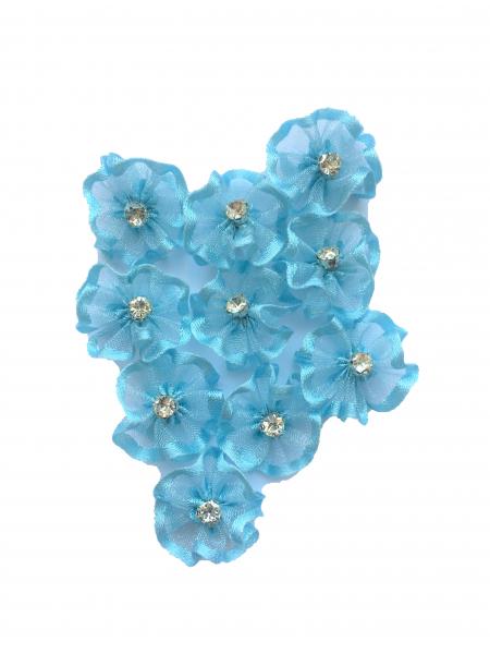 Flare organza albastru deschis (2cm) 1