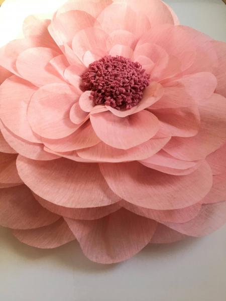 Floare supradimensionata, material  textil 60 cm roz prafuit
