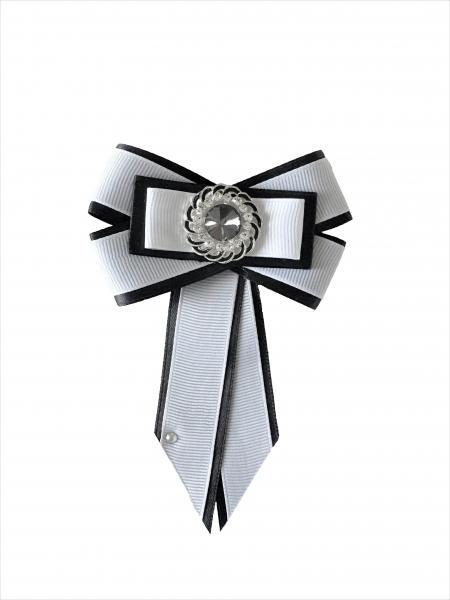 Papion - brosa alb-negru 0