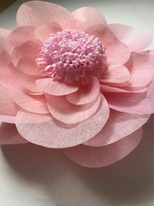 Floare uriasa, 60 cm roz baby, material textil1