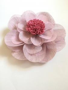 Floare supradimensionata, material textil, diametru 60 cm, mov pudra0