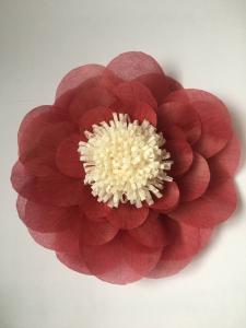 Floare supradimensionata, material textil, diametru 60 cm, culoare visinie0