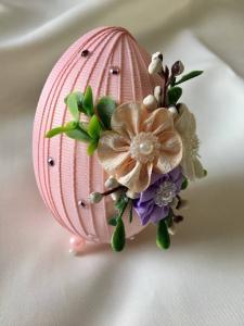 Ou decorativ Paste - fond roz0