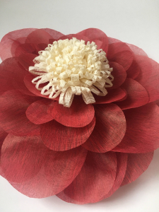 Floare supradimensionata, material textil, diametru 60 cm, culoare visinie1