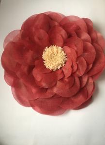 Floare supradimensionata, material textil, diametru 60 cm, culoare visinie2
