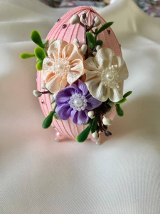 Ou decorativ Paste - fond roz2