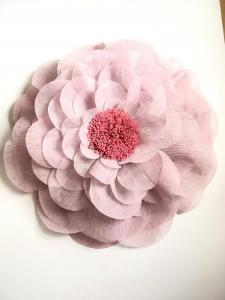 Floare supradimensionata, material textil, diametru 60 cm, mov pudra1