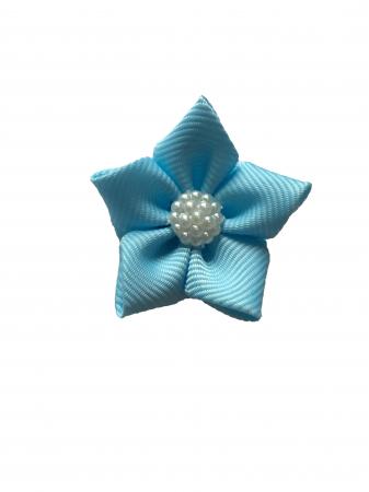 Floare saten mat, raiat - 4 cm (albastru deschis)0