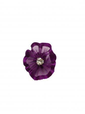 Floare organza mov-inchis 2 cm0