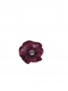 Floare organza bordo (2cm)