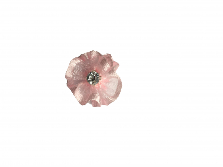 Floare organza 2 cm roz0