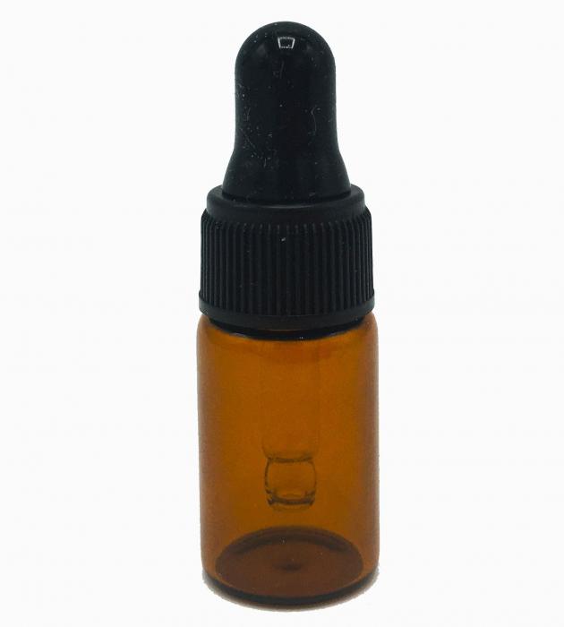 Set 5 recipiente din sticla bruna cu pipeta, 3 ml [1]