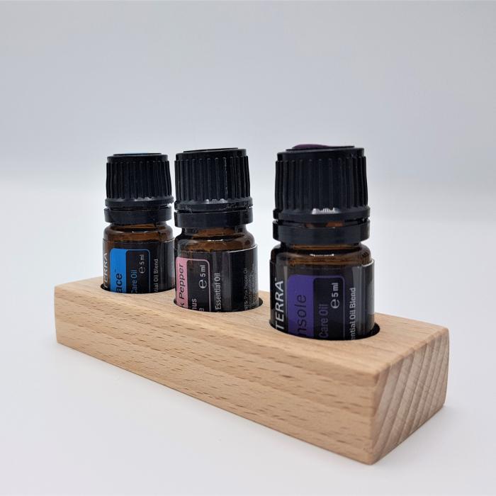 Set 3 mini suporturi x 3 sticlute, fag [6]
