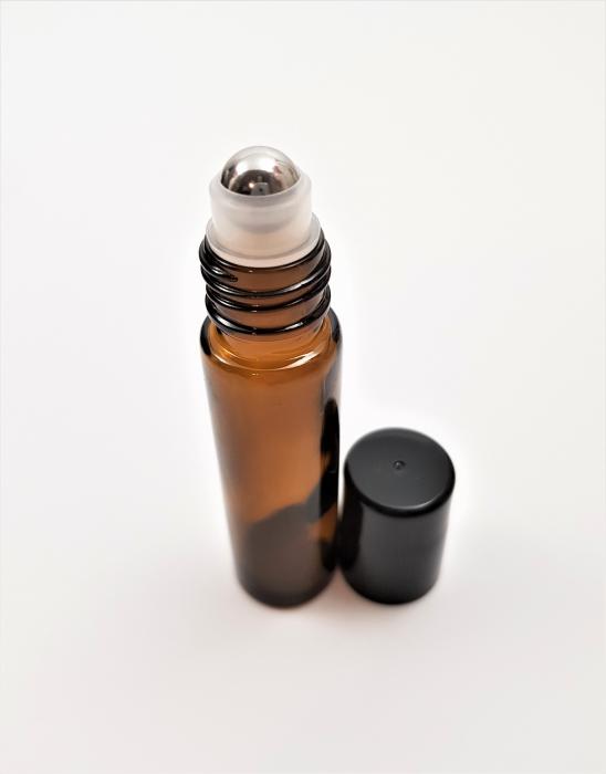 Recipient roll-on sticla maro, 10 ml [0]