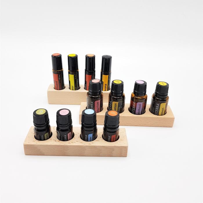 Set 3 mini suporturi x 4 sticlute, fag [1]