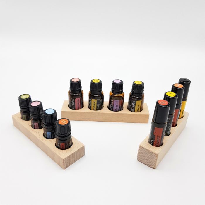 Set 3 mini suporturi x 4 sticlute, fag [0]