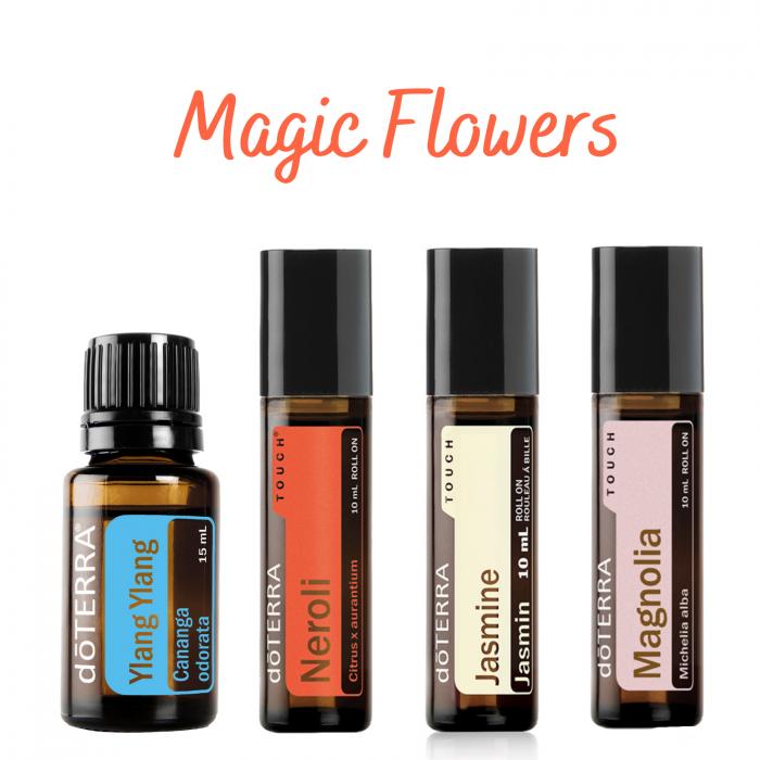 Set Magic Flowers + CADOU 4 Suporturi din lemn [0]