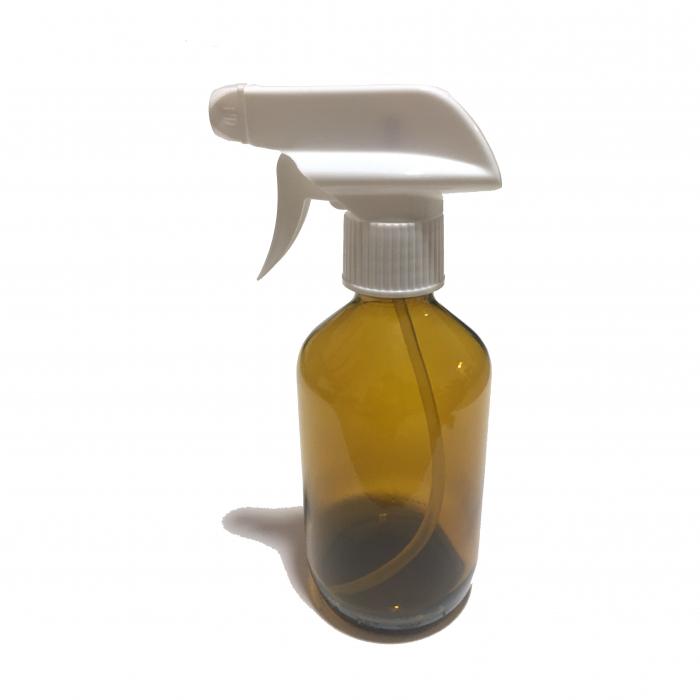 Recipient sticla maro cu pulverizator, 250 ml [0]