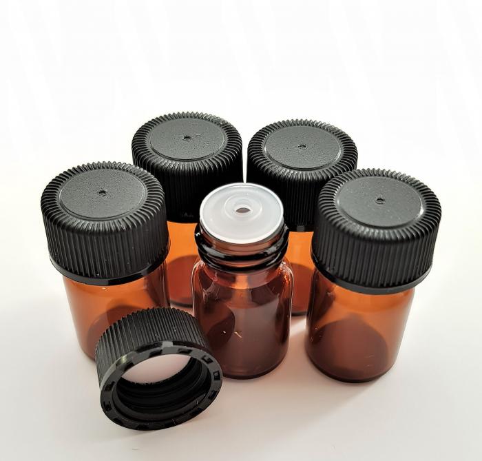 Sticluta bruna cu picurator pentru uleiuri esentiale 2 ml [1]