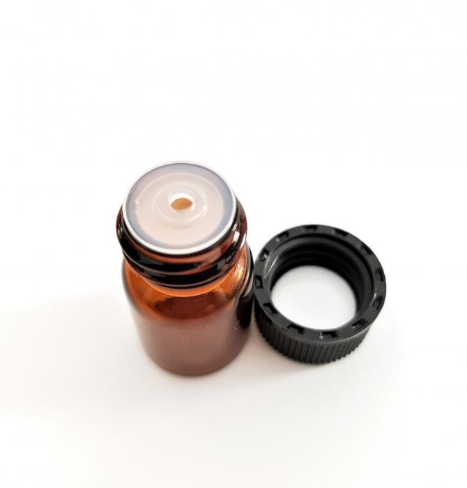 Sticluta bruna cu picurator pentru uleiuri esentiale 2 ml [0]