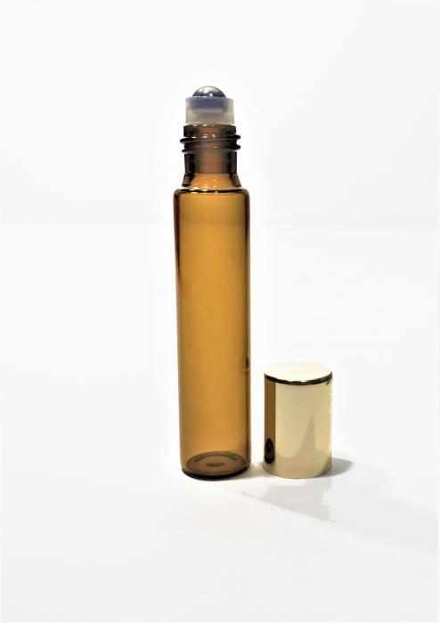 Recipient roll-on sticla maro subtire, 9 ml [0]