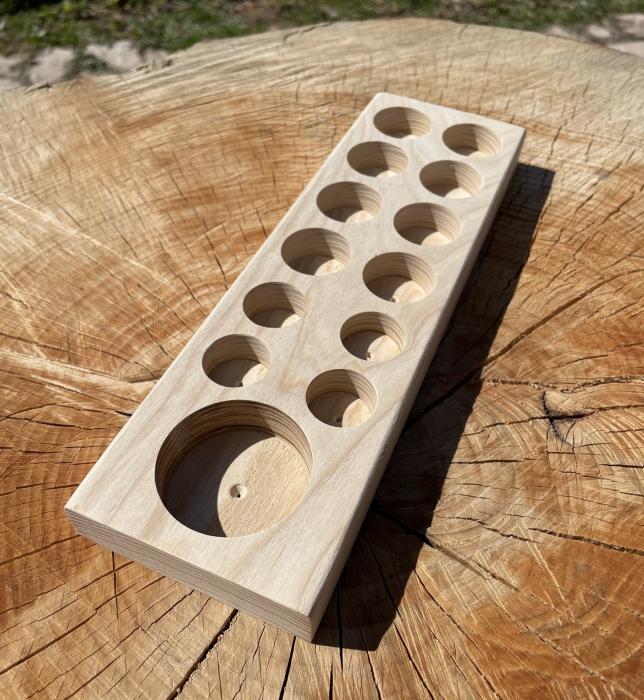 Suport din lemn pentru ulei purtator si 12 sticlute [1]
