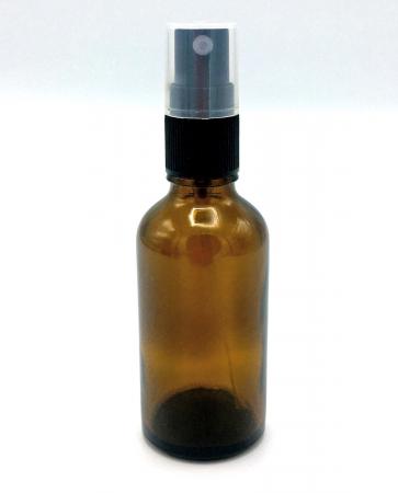 Recipient din sticla maro cu spray, 50 ml [0]