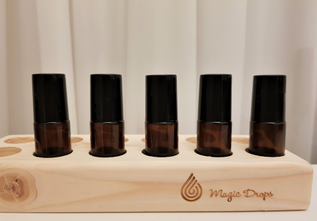 Set 5 recipiente roll-on sticla bruna, 5 ml [1]