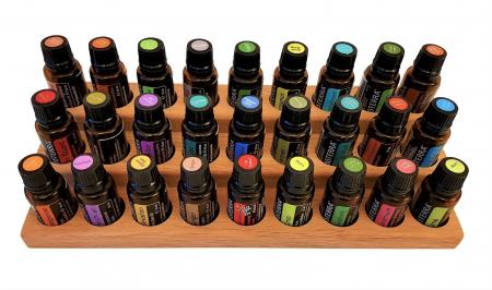 Suport din lemn de stejar pentru sticlute de ulei esential 15 ml [1]