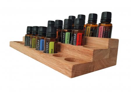 Suport din lemn de stejar pentru sticlute de ulei esential 15 ml [2]