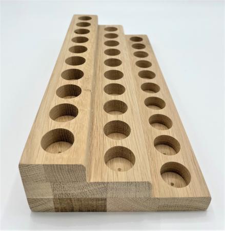 Suport din lemn de stejar pentru sticlute de ulei esential 5/10 ml [0]