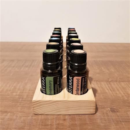Suport din lemn de frasin pentru 14 sticlute de ulei esential 15 ml [4]
